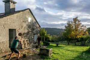 hout hakken in Galicia