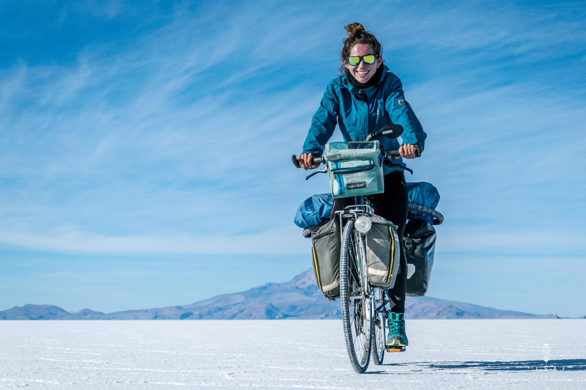 Cycling on Salar de Uyuni