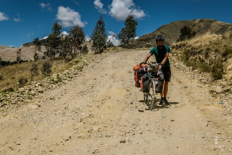 The car-free cycling route in Peru