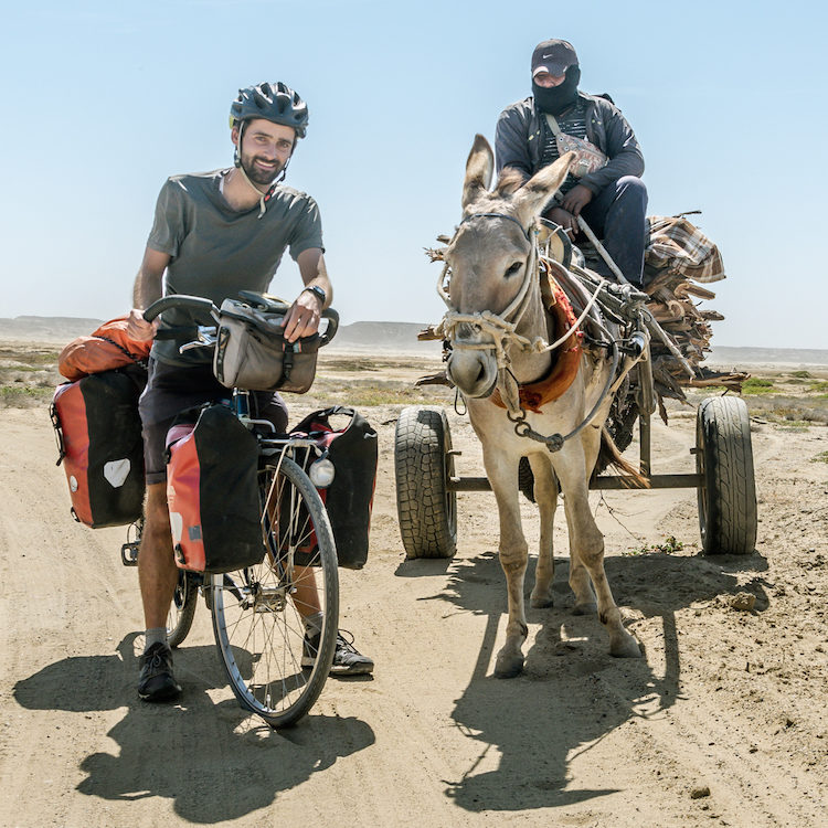 cycling in the desert in Peru