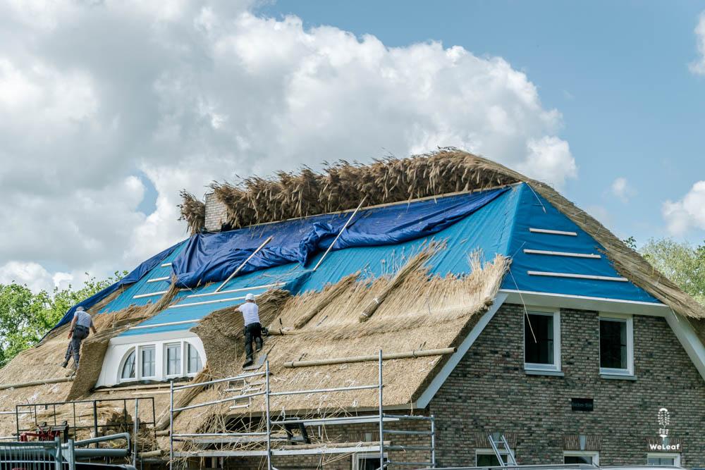 rieten dak vervangen