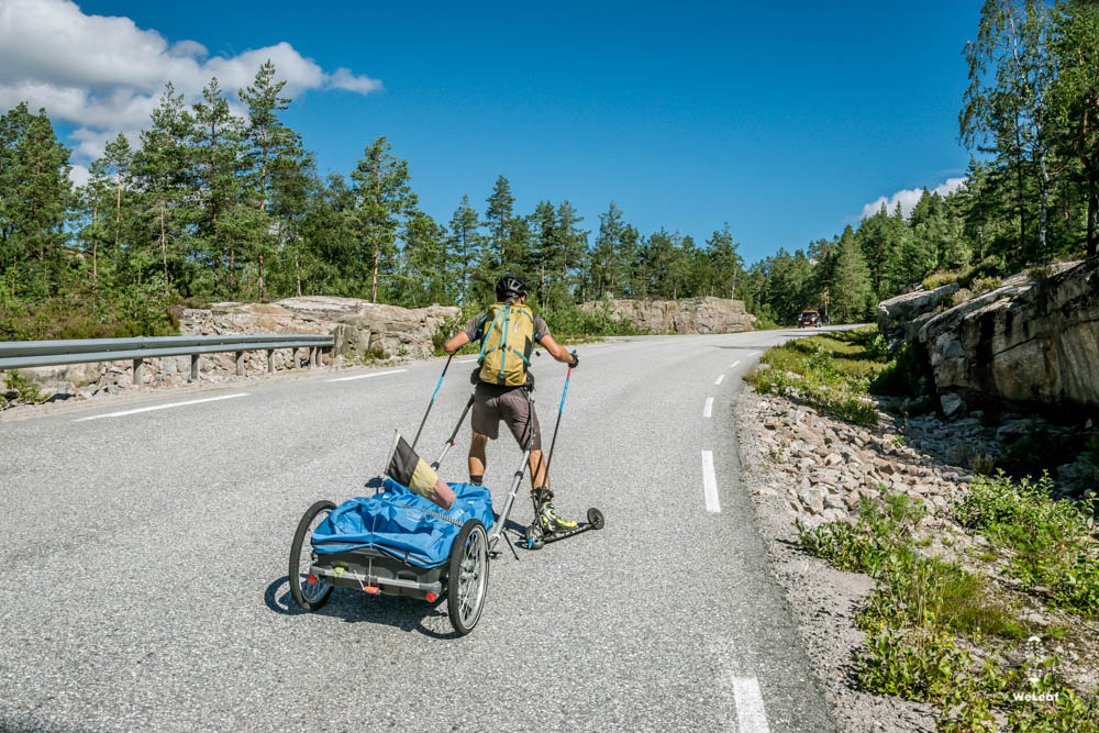 roller skiing in Noorwegen
