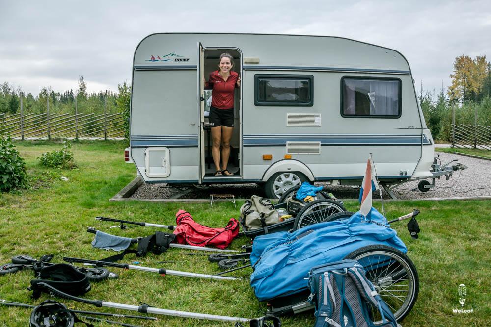 slapen in een caravan