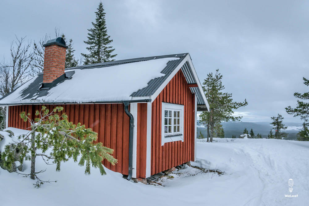 mountain hut in Sweden